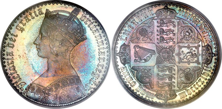 ビクトリアのゴシッククラウン銀貨について