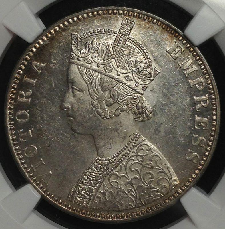 英国領インドのビクトリア銀貨について