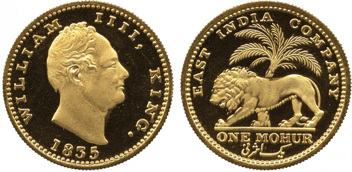英国領インドのモハール金貨