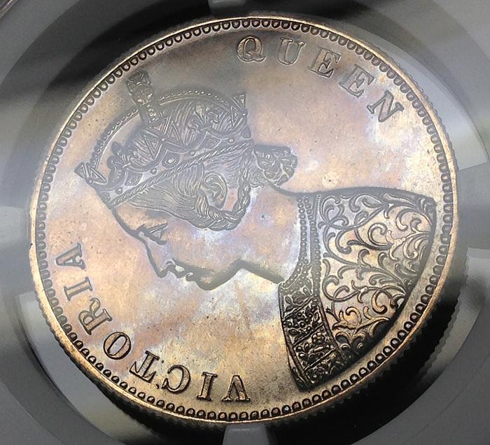 ビクトリアのプルーフ、ルピー銀貨