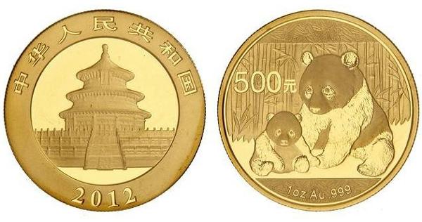中国のパンダ金貨について