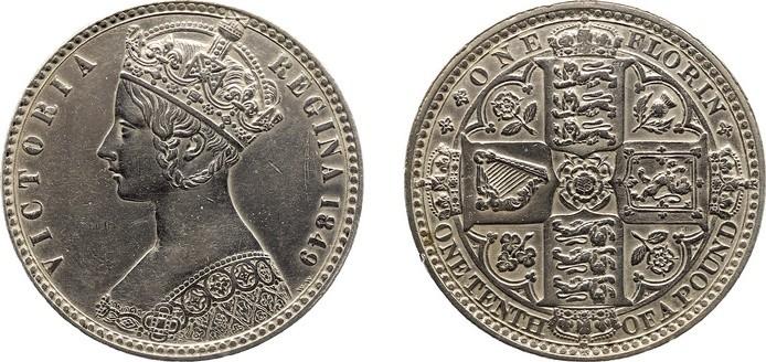 ビクトリアゴシックフローリン銀貨について
