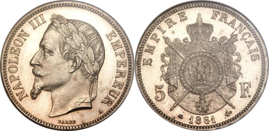 ナポレオン3世の5フラン銀貨について