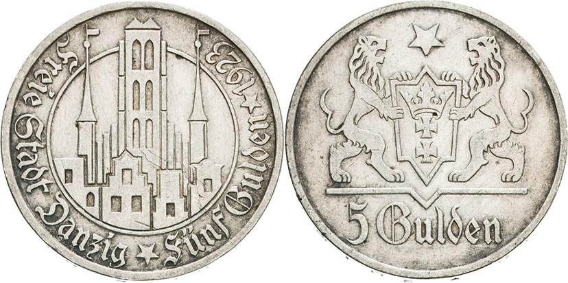 ダンチヒの5グルデン銀貨について、その1