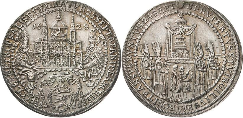 オーストリアのザルツブルグ神聖ローマ帝国ターラー銀貨