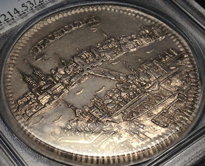 バーゼルの都市景観銀貨について