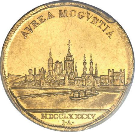 ドイツ、マインツの都市景観ダカット金貨