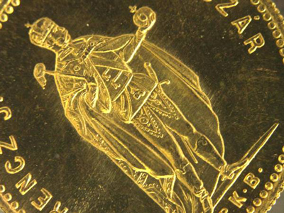 ハンガリー、オーストリア皇帝、フランツ・ヨーゼフ1世のダカット金貨