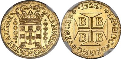 ポルトガル領ブラジル4000レイス金貨について