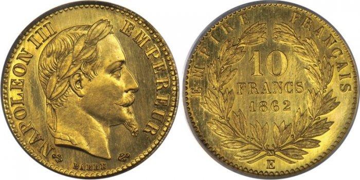 フランス ナポレオンの見本貨幣 SPについて