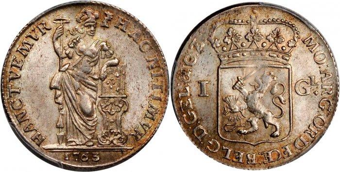 18世紀オランダの14グルデン金貨について