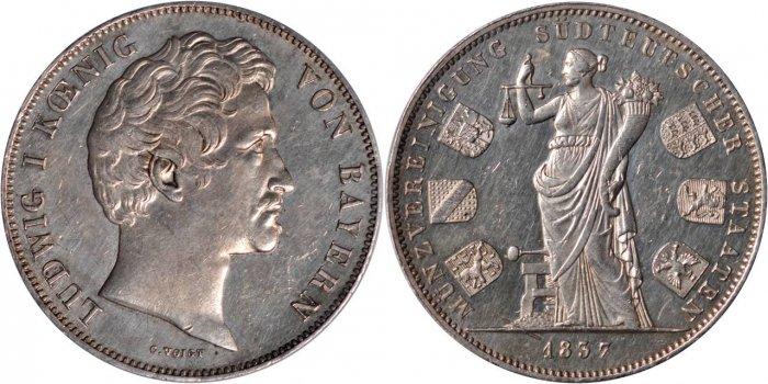 バイエルン王ルートヴィヒ1世のコインについて