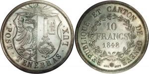 スイスジェネーブ銀貨