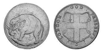 英領カロライナのエレファントコインについて