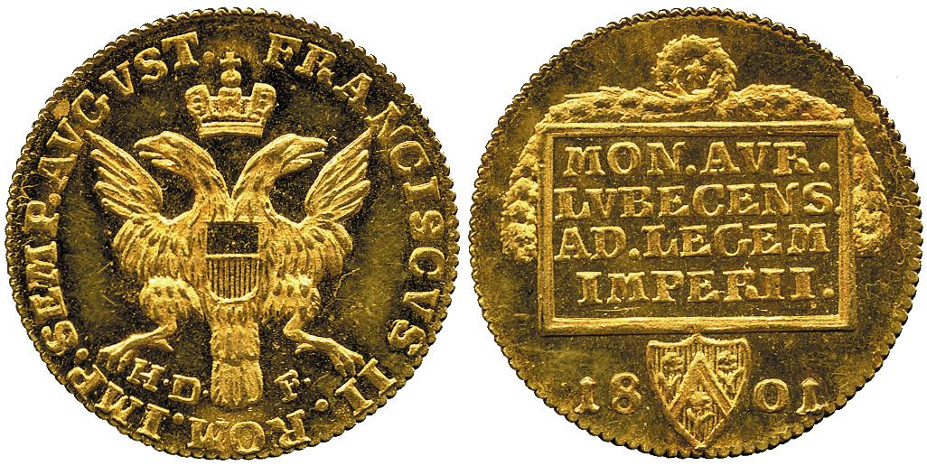 ドイツ リューベックのアンティークコインについて