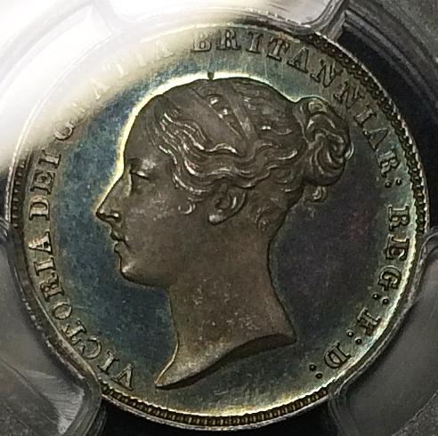 英国女王ビクトリアの6ペンスプルーフ銀貨について
