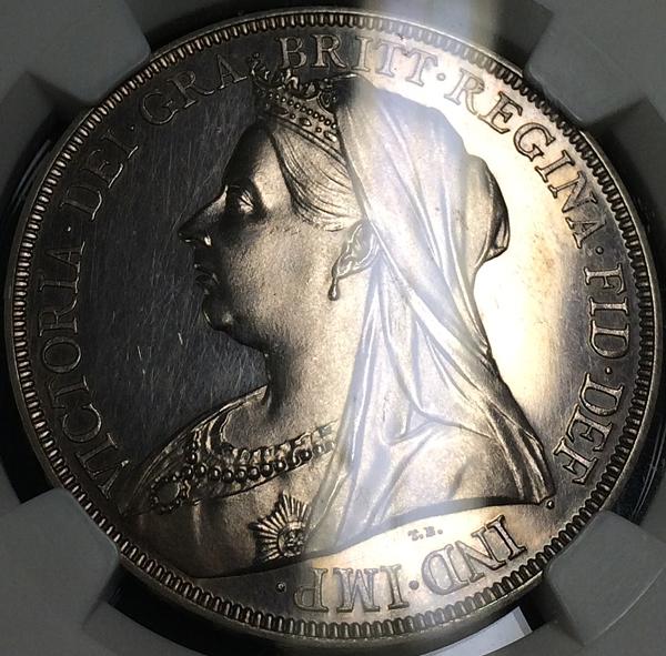 英国女王ビクトリアの1893年プルーフクラウン銀貨について