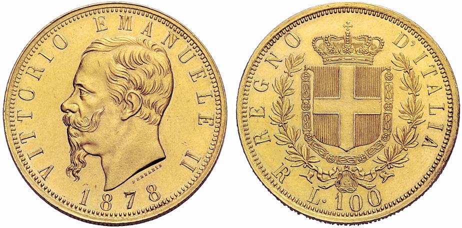 イタリア ヴィットリオ エマヌエレⅡ世のコインについて