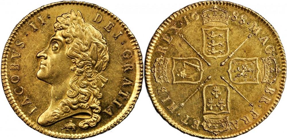 英国王ジェームズ2世のアンティークコインについて