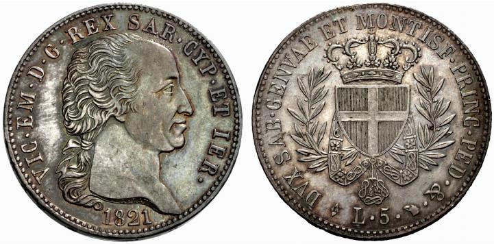 サルディニア王エマヌエレ1世のコインについて