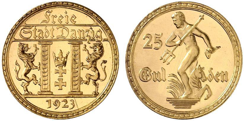 ダンチヒ1923年25グルデン金貨について