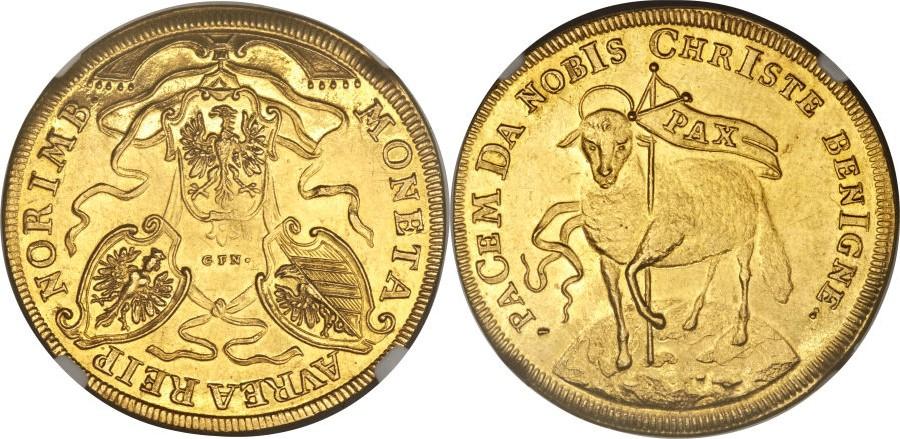 1703年ニュルンベルクのラムダカット金貨(羊金貨)について
