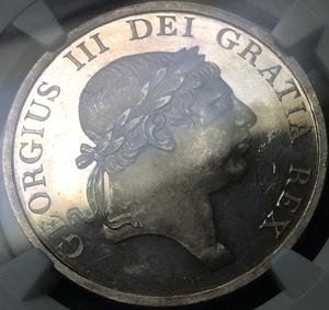 1812年英国ジョージ3世のトークンプルーフ3シリング銀貨
