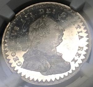 1811年英国ジョージ3世のトークンプルーフ1シリング 6ペンス銀貨