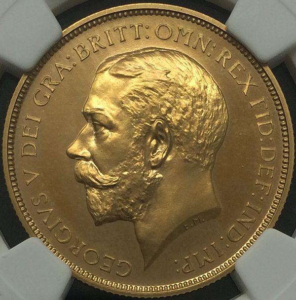 英国王ジョージ5世の1911年2ポンド プルーフ金貨について