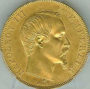 海外オークションのナポレオン金貨