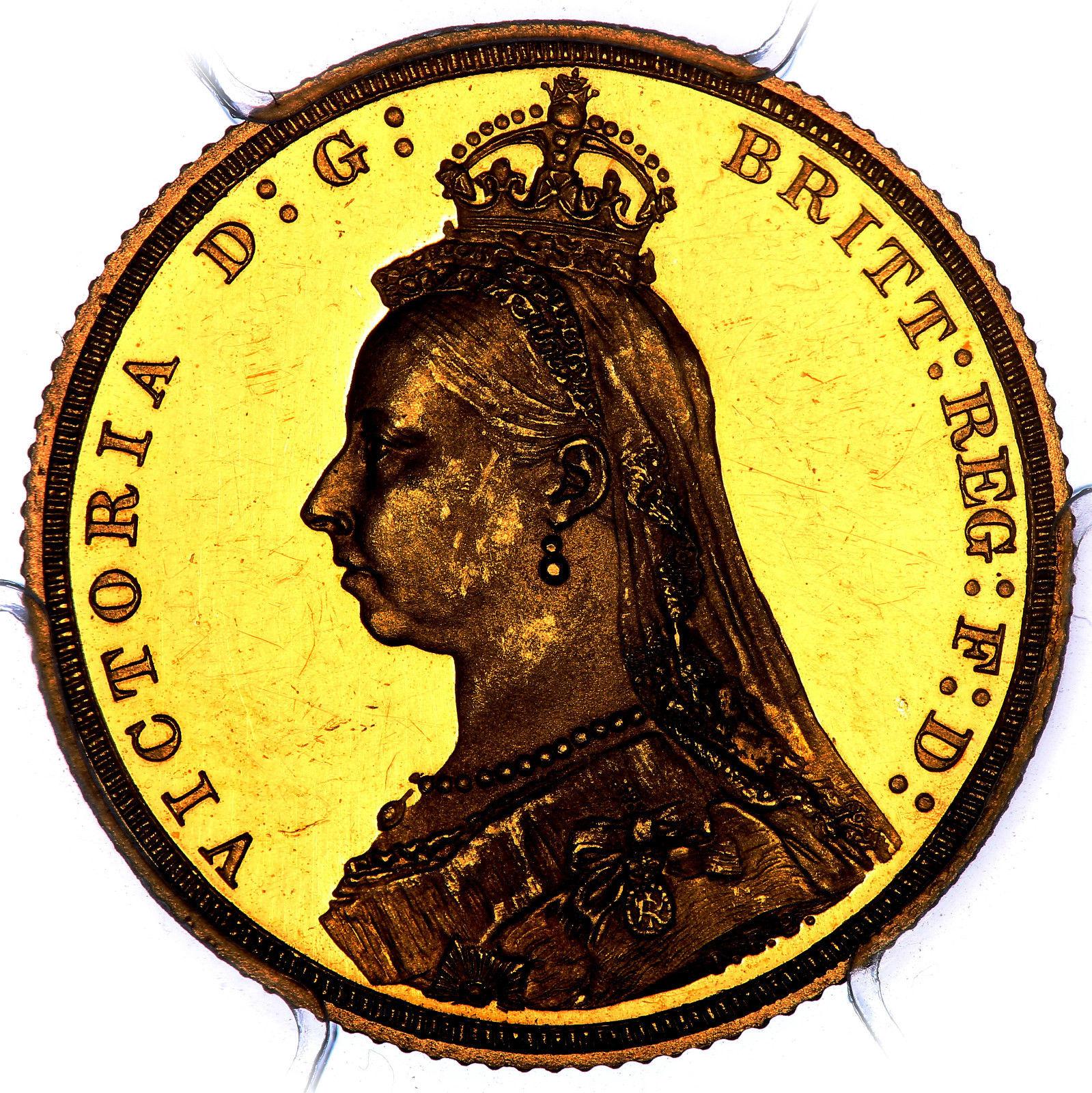 海外オークションの英国女王コイン