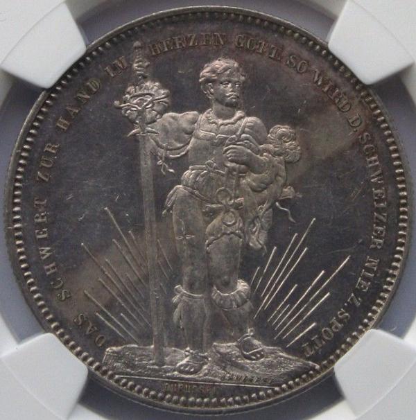 スイス射撃祭のアンティークコイン