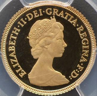 英国女王エリザベスⅡ世の金貨の