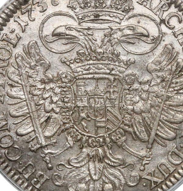 ハプスブルク家 カール6世 神聖ローマ皇帝 ターラー銀貨   コインワールド