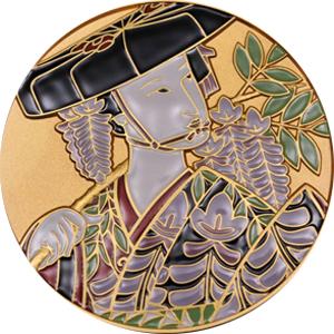 藤娘 七宝章牌メダル