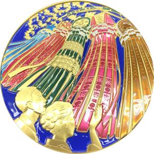 仙台七夕まつり七宝章牌メダル