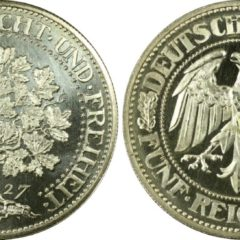 ヴァイマル5マルク銀貨プルーフ