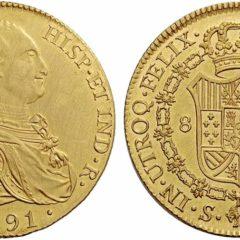 スペイン王カルロス4世エスクード金貨