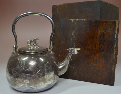 龍文堂の銀瓶