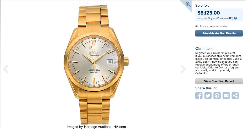 腕時計の価値